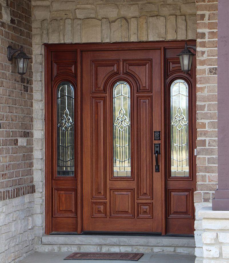 Exterior Doors With Sidelights Solid Mahogany Entry Doors Puertas De Entrada Verjas Para Ventanas Puertas De Madera