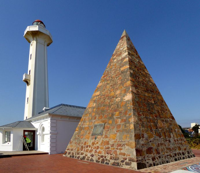 Pyramid And Lighthouse Port Elizabeth South Africa
