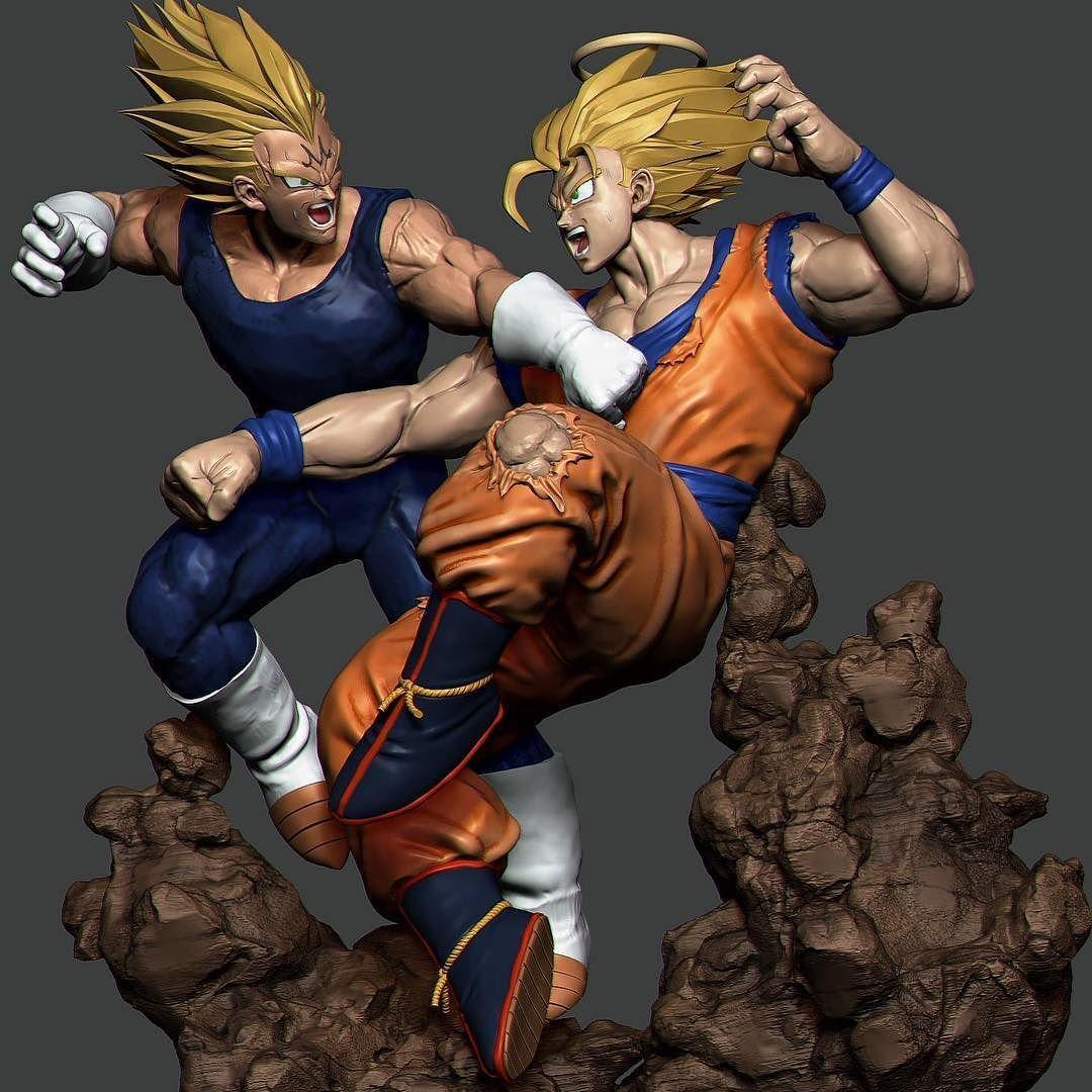 Beste Dragon Ball Z Goku Gegen Vegeta Malvorlagen Ideen - Beispiel ...