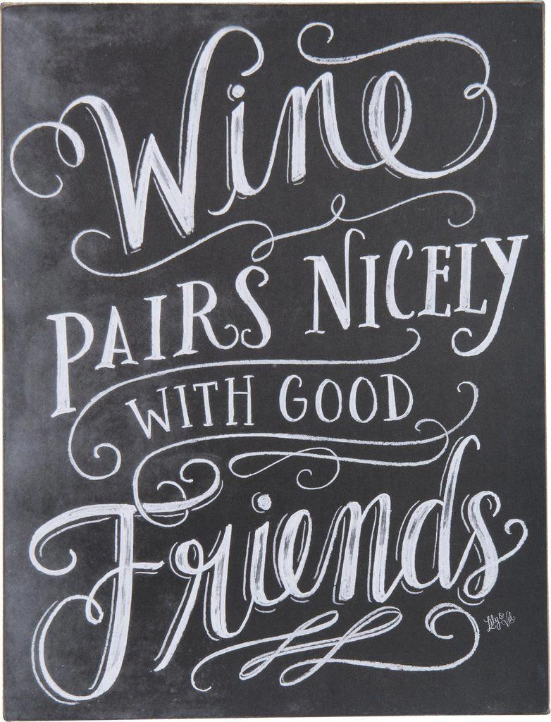Pairs Nicely Wall Sign Wine quotes, Wine signs, Wine decor