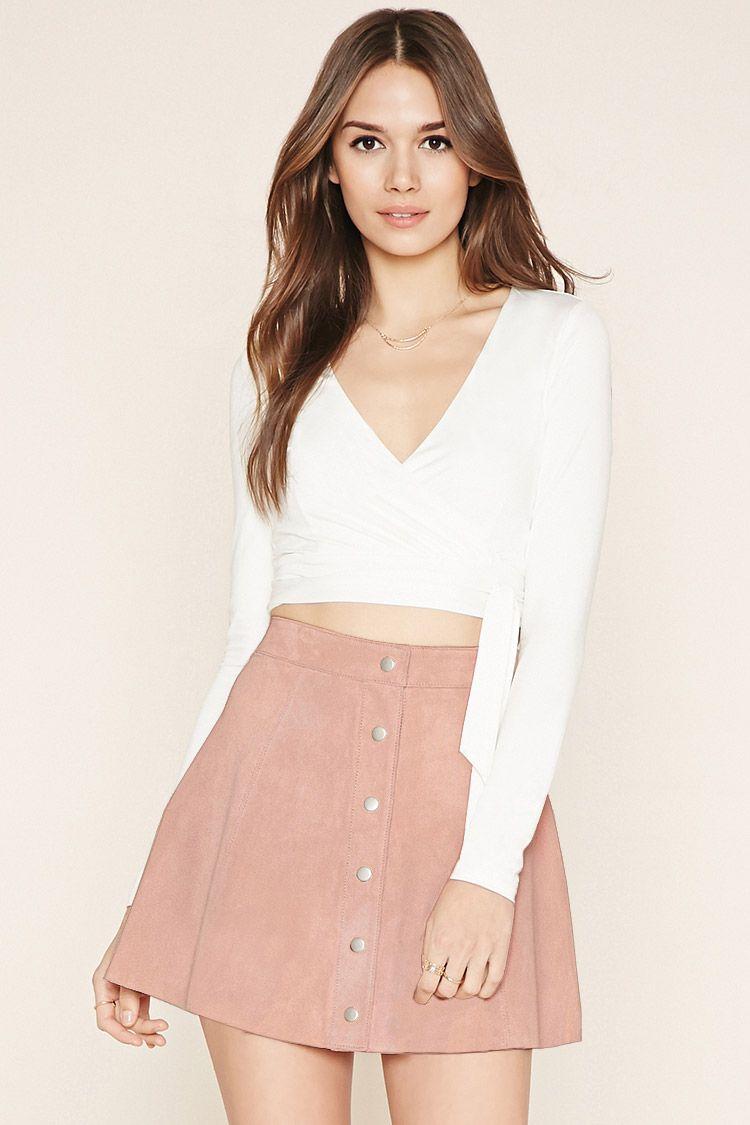 Contemporary Suede Skater Skirt
