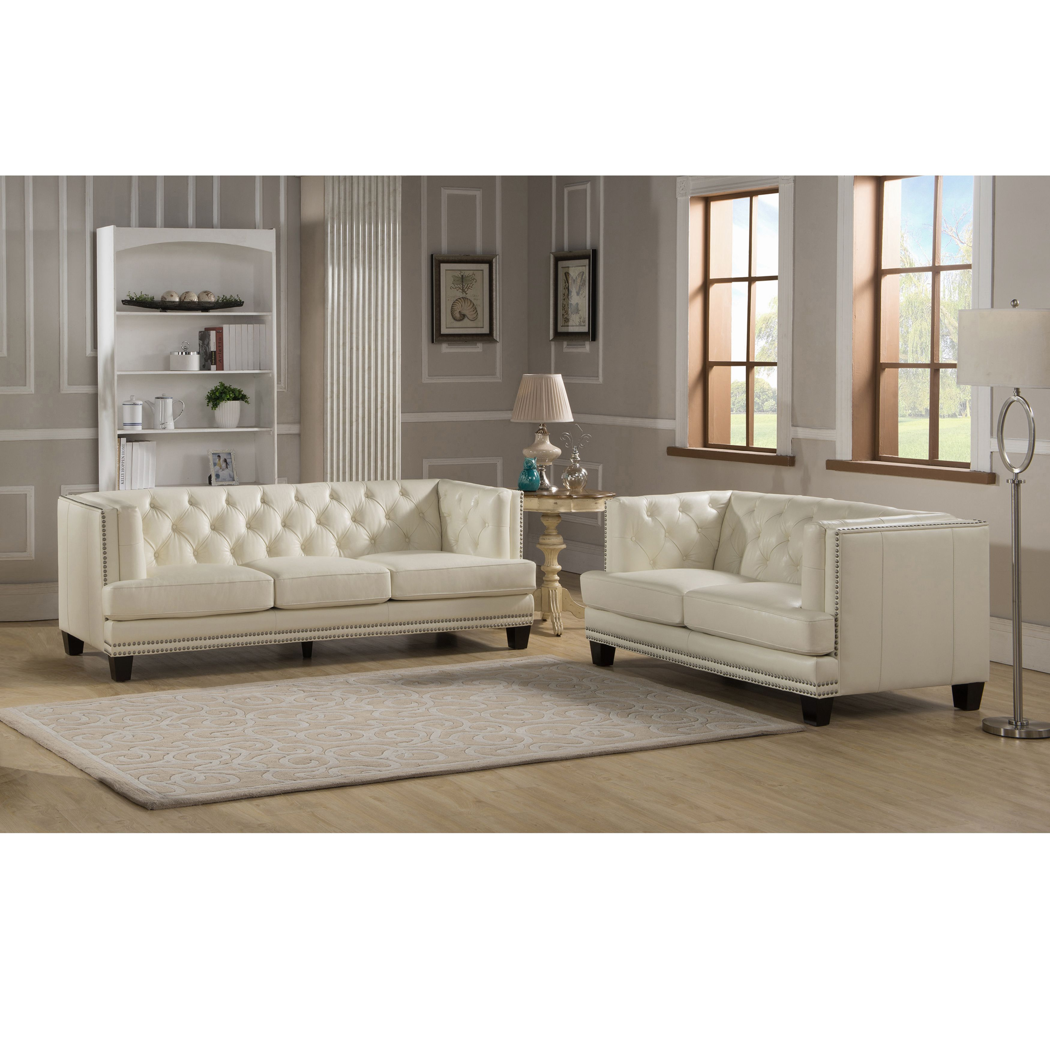 Overstock Com Online Shopping Bedding Furniture Electronics Jewelry Clothing More Leather Living Room Set Living Room Leather Sofa And Loveseat Set #tufted #leather #living #room #set
