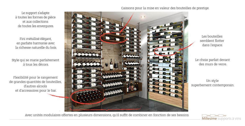rangement millesime pour les bouteilles de vin bar et. Black Bedroom Furniture Sets. Home Design Ideas