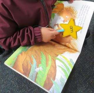 Kids choose a star and use it to search for that word as they are reading.