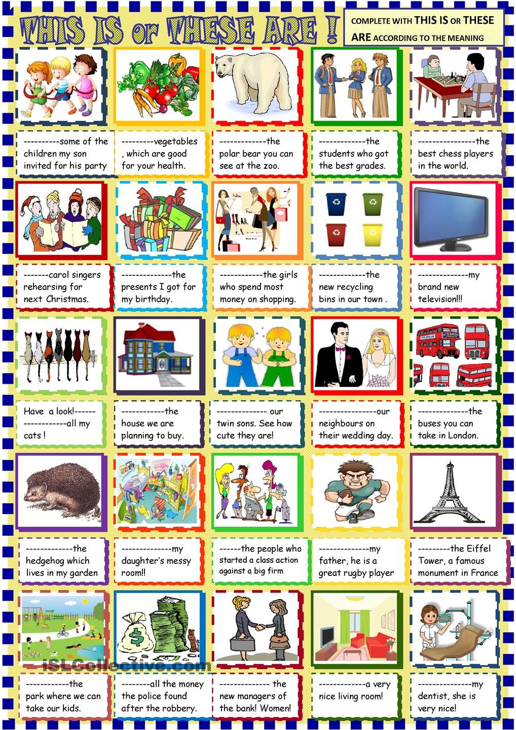 this is /these are for young learners | Grammar | Pinterest