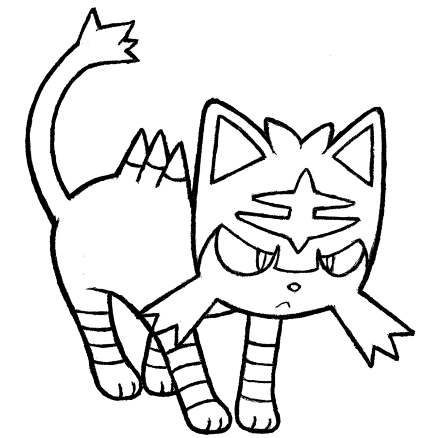 28 Collection Of Litten Pokemon Coloring Pages High Quality Free Pokemon Coloring Pages Pokemon Coloring Coloring Pages