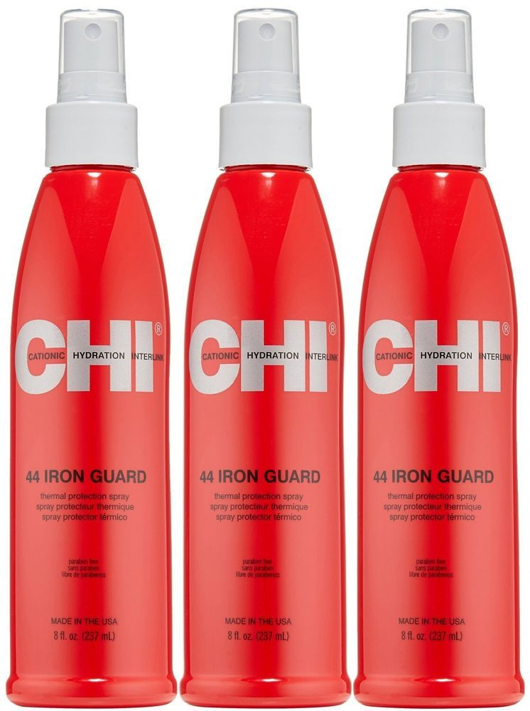Chi 44 Iron Guard 8 oz 237 ml Thermal Protection Spray 3 PACK  #Farouk