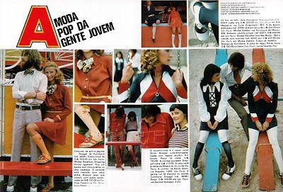 História dos anos 70 | Moda, Moda pop, Propagandas antigas