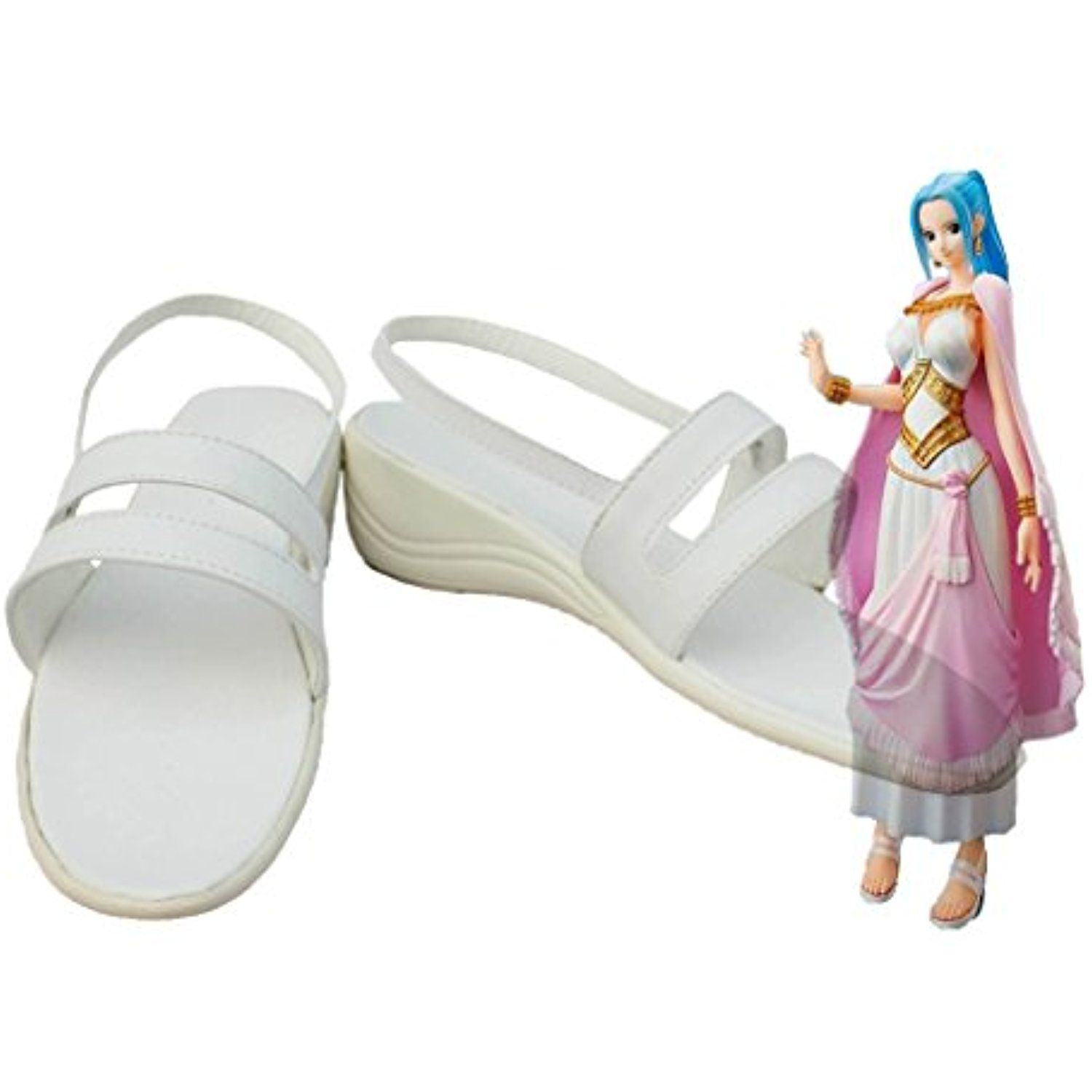 One Piece Anime Nefeltari Vivi Cosplay Shoes Boots Custom Made