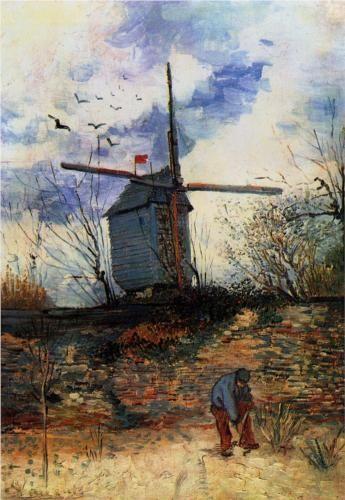 Moulin de la Galette: 1886 by Vincent van Gogh (Museo Nacional de Bellas Artes, Buenos Aires, Argentina) - Impressionism