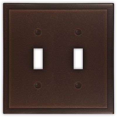 Questech Ambient Decorative Metal Double Toggle Light Switch Cover
