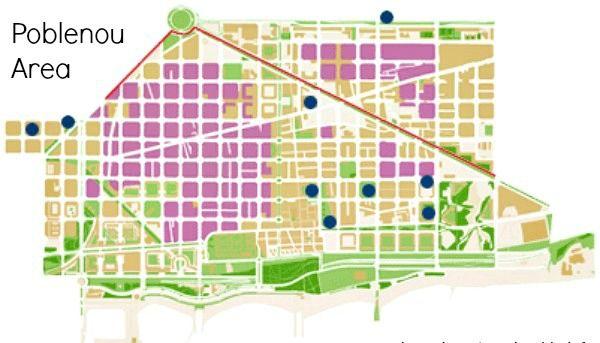 Poblenou Area Map