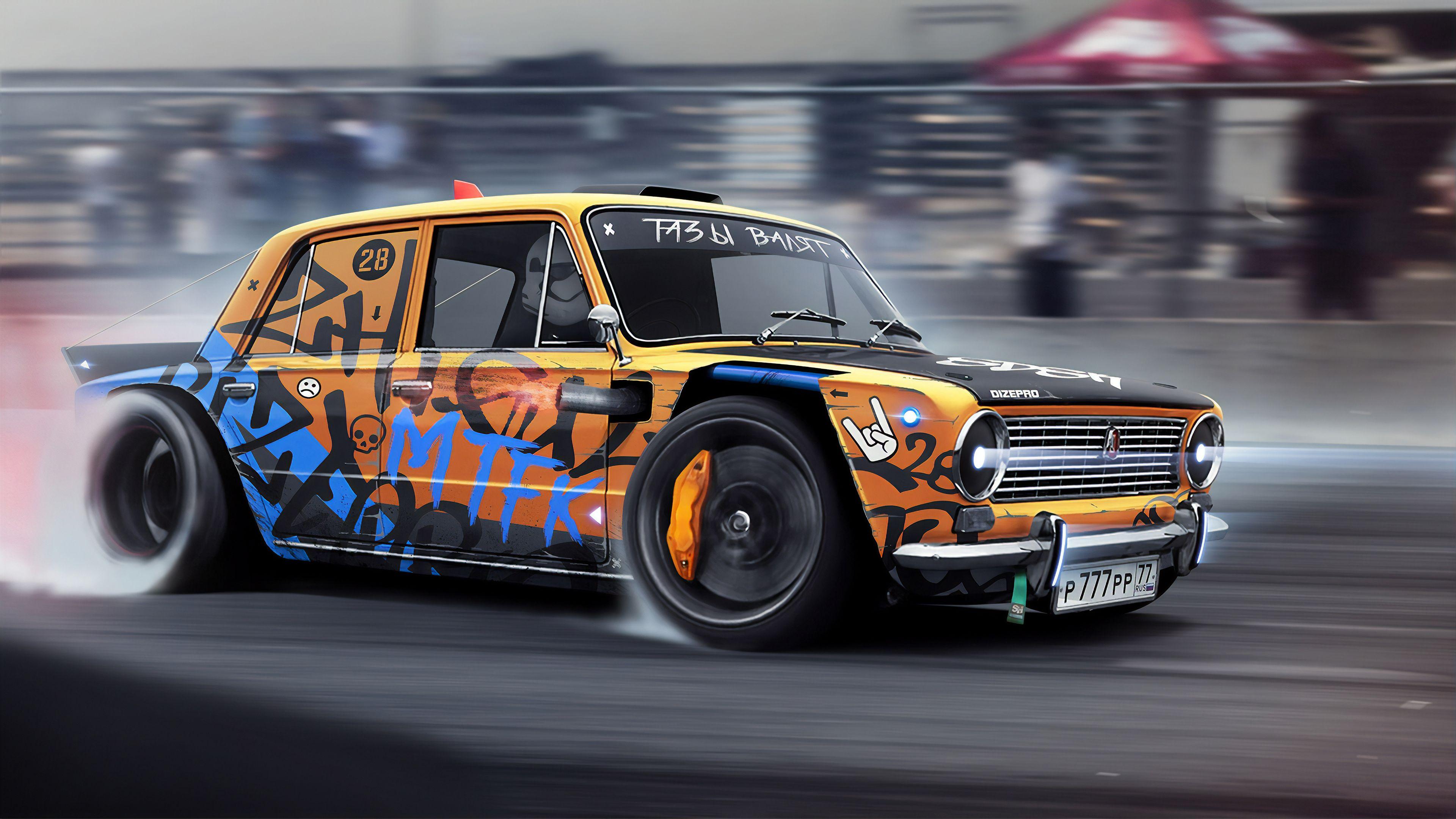 Drift Monster Hd Wallpapers Drifting Cars Wallpapers Digital Art Wallpapers Cars Wallpapers Artwork Wallpapers Artstation Car Wallpapers Drifting Cars Car