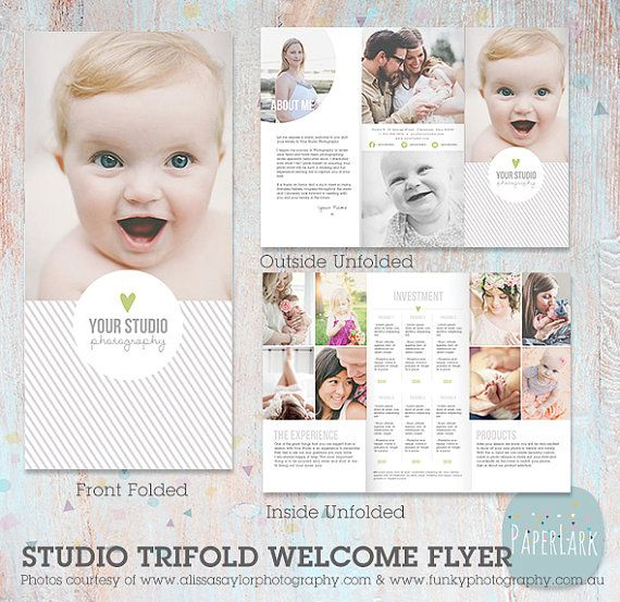 Studio Welcome Flyer Trifold Brochure Dl By Paperlarkdesigns