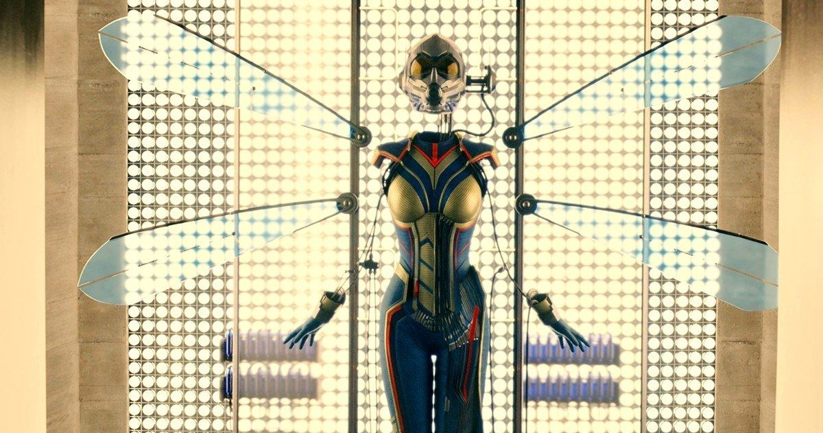 Wasp Suit Unveiled in 'Ant-Man' Post-Credit Scene Photo -- Take a look at the Wasp suit that was revealed at the very end of 'Ant-Man' during the first Post-Credit scene. -- http://movieweb.com/ant-man-movie-wasp-suit-photo-post-credit-scene/