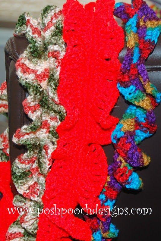 Double Ruffle Spring Scarf Crochet Pattern