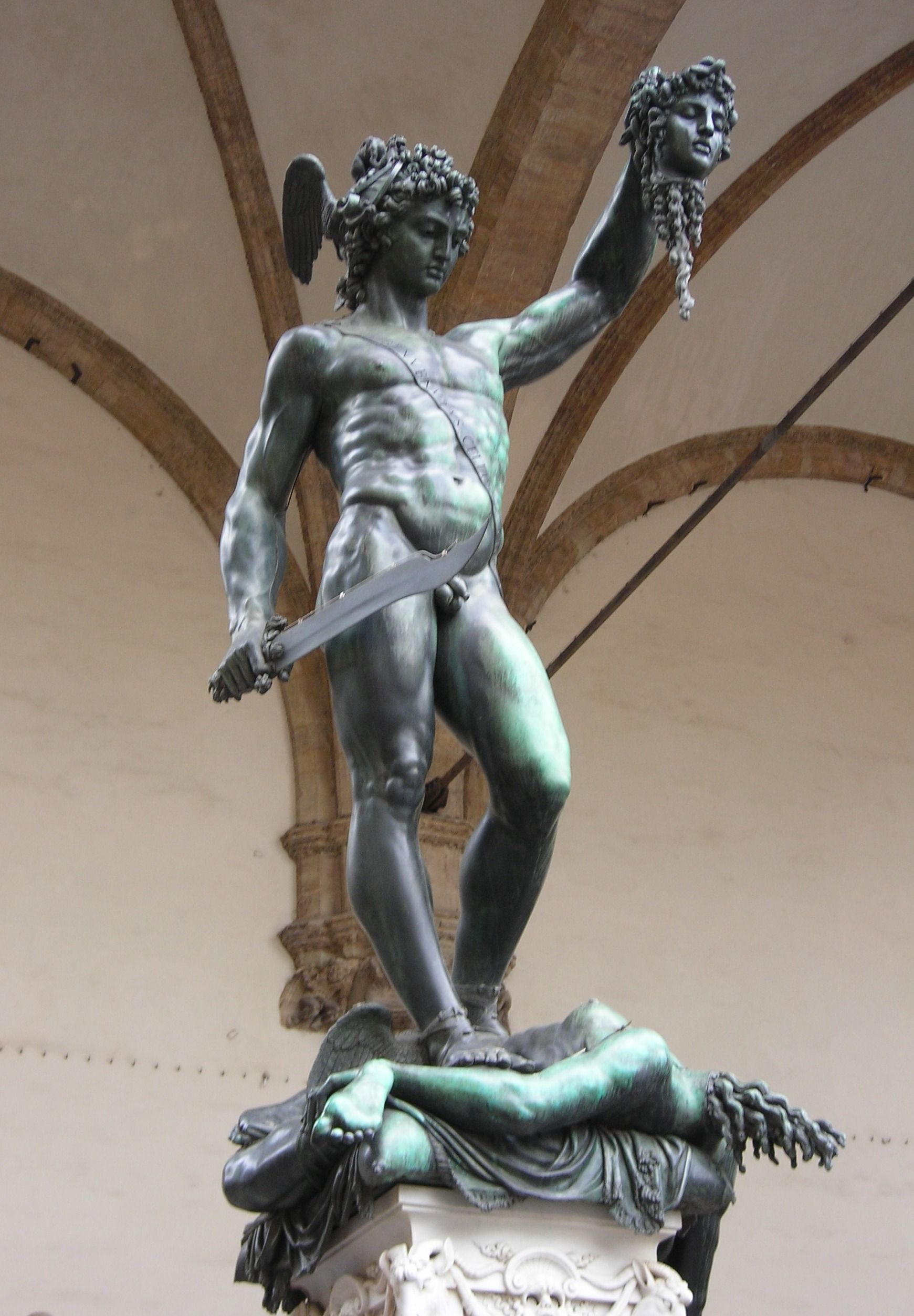 Bronze statue of Perseus and Medusa by Cellini - hands ...