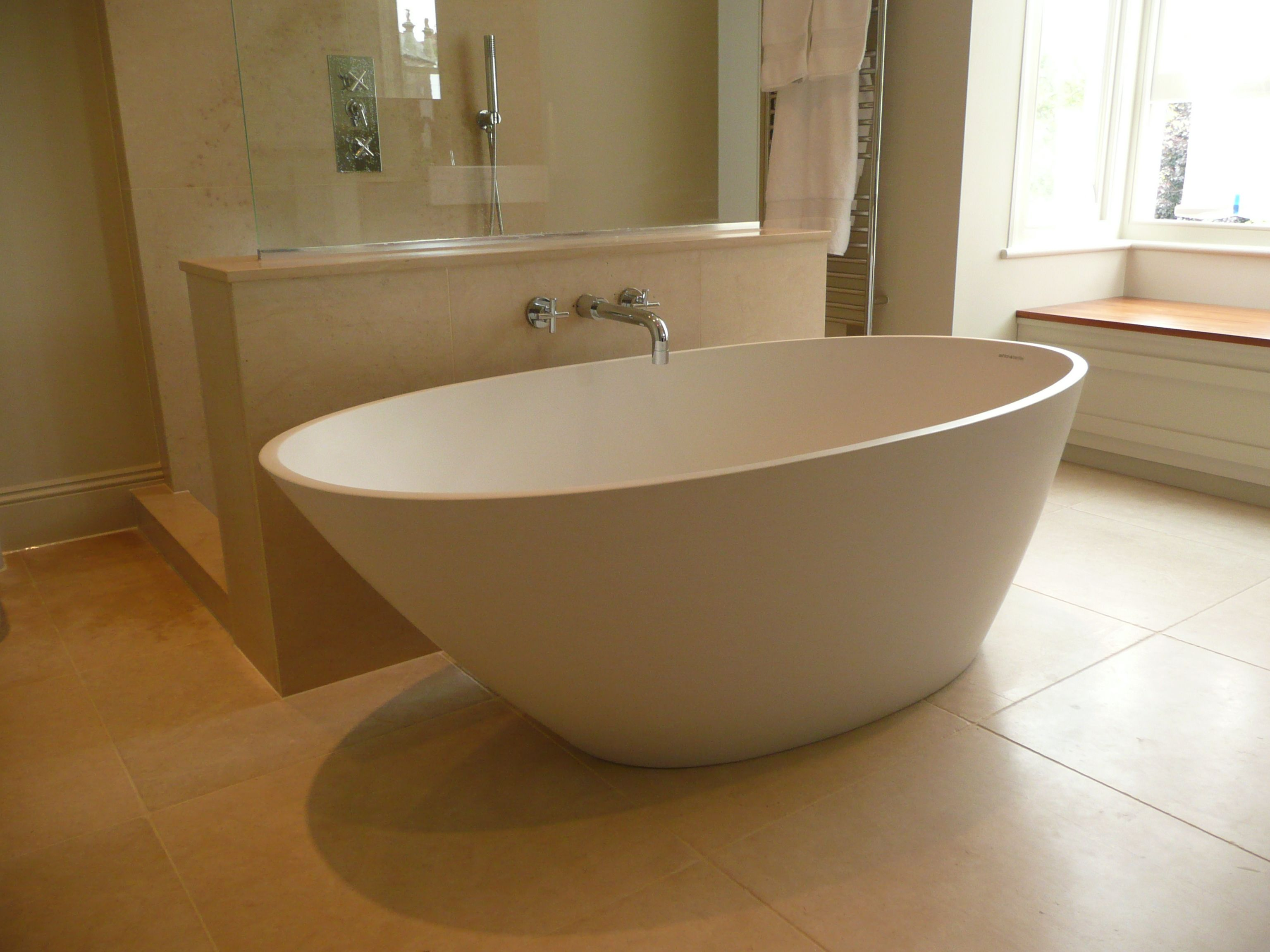 Ashton & Bentley\'s fabulous Lefka freestanding bath in a lovely ...