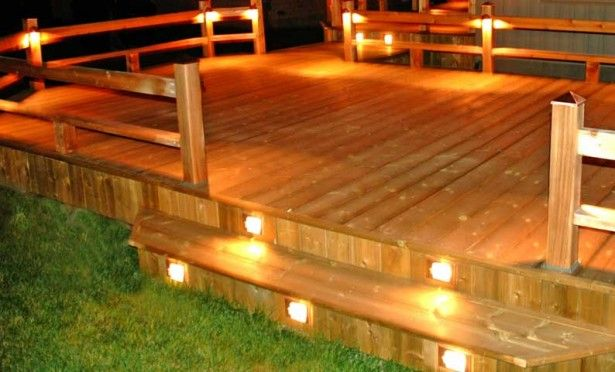 Outdoor deck lighting ideas to choose from i like the lighting idea and i like the stairs how the boards cover up the underneath