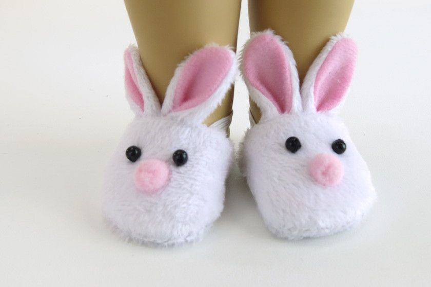 0b5604a09cc4 Bunny Slippers for American Girl Doll