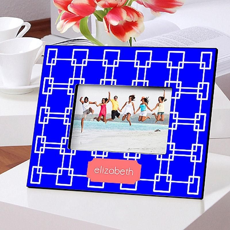 Color Brights I In 12 Designs Personalized Picture Frame 4x6 Photo Blue Picture Frames Bright Pictures Personalized Picture Frames