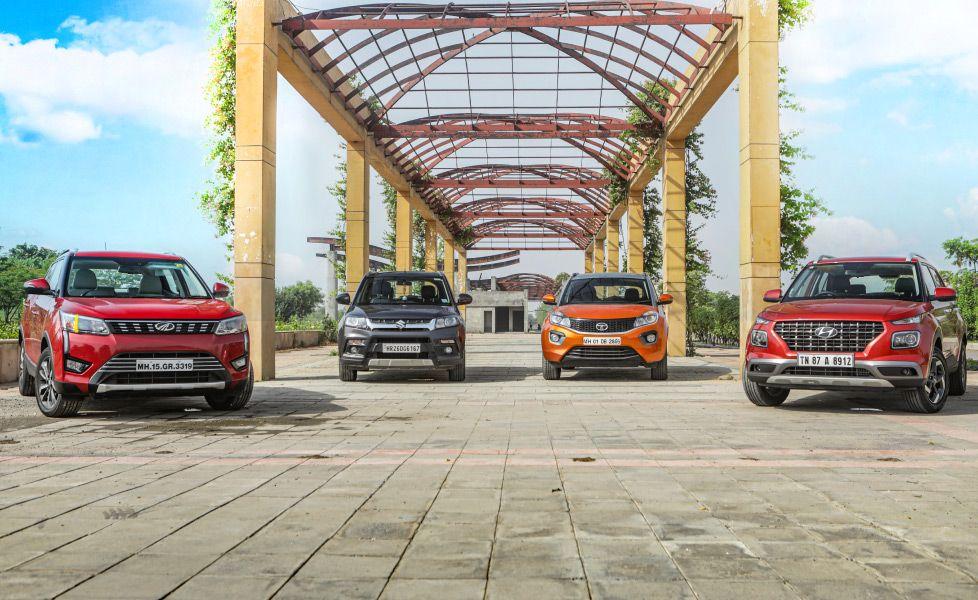 Hyundai Venue Vs Maruti Suzuki Vitara Brezza Vs Mahindra Xuv300 Vs Tata Nexon Photo Gallery