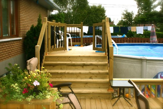 Patio Plus Above Ground Pools Decks Backyard In 2019