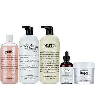 philosophy supersize cleanse, treat & renew set