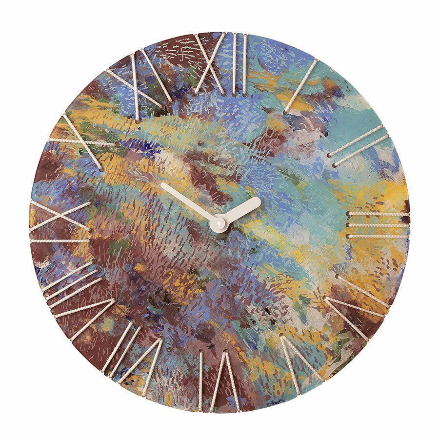 Moderne Kunst Abstrakte Malerei Uhr Ursprngliche Acrylmalerei