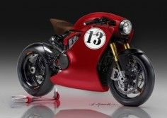Ducati Cafe Racer Design by Kenyamasaki #motorcycles #caferacer #motos  