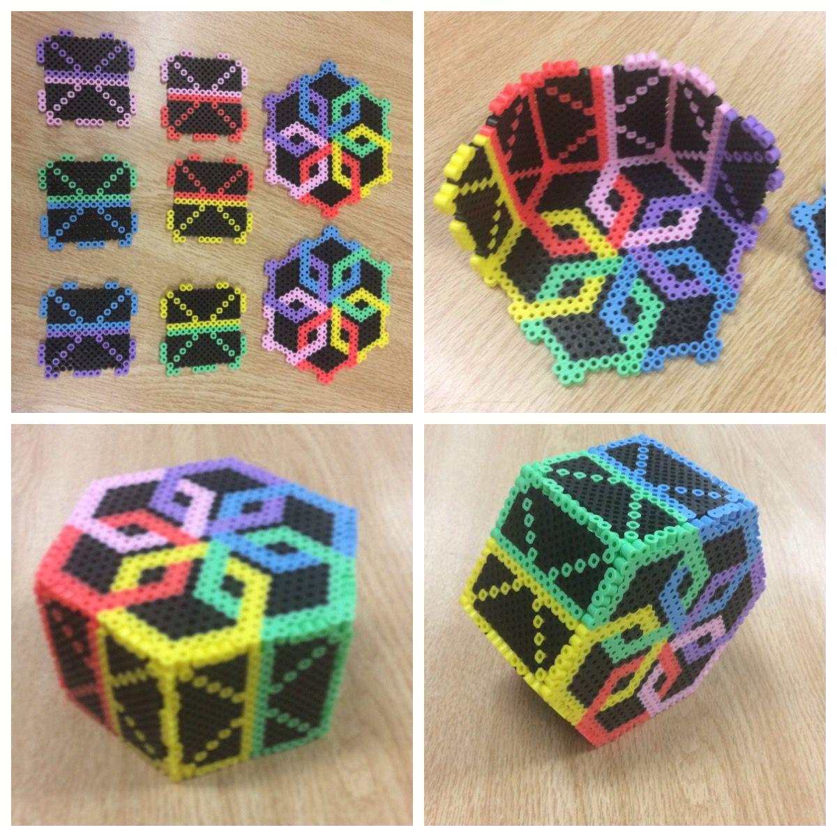 perler 3 d box perler bead projects