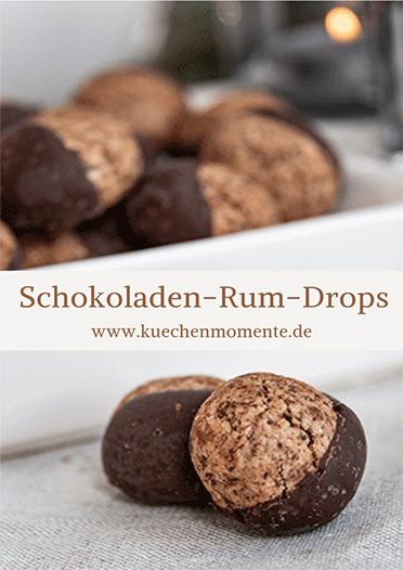 Weihnachtsplätzchen Schokoladenplätzchen.Schokoladen Rum Drops