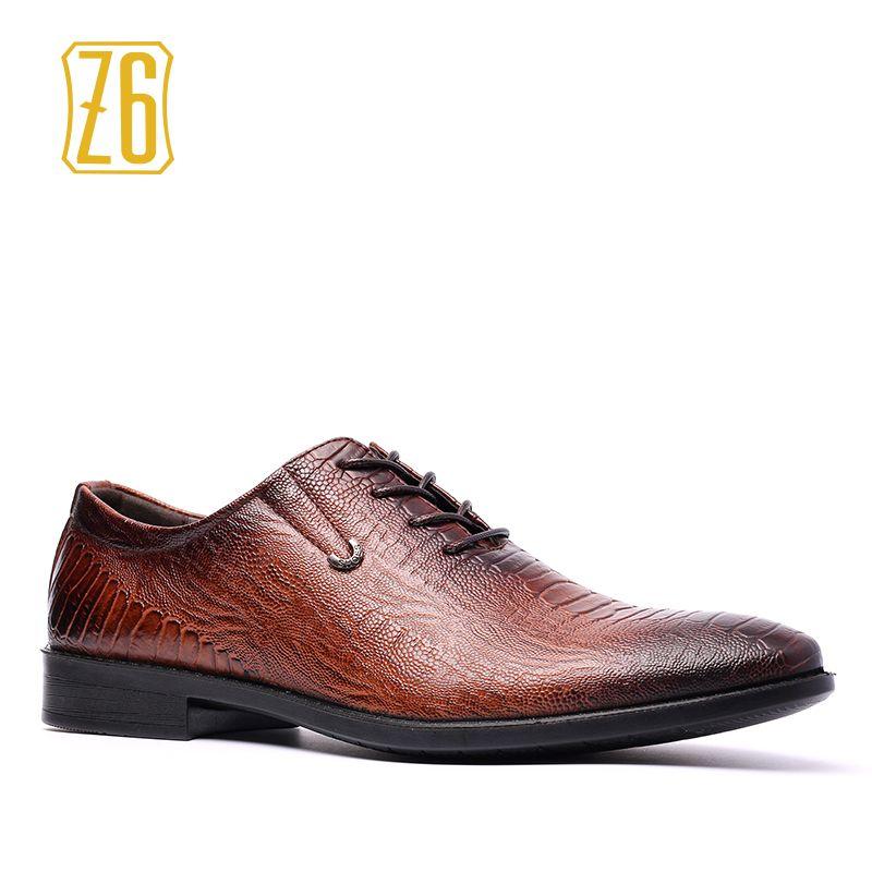 614d9323602f Z6 Men leather shoes Handsome comfortable Brand PU men dress shoes ...
