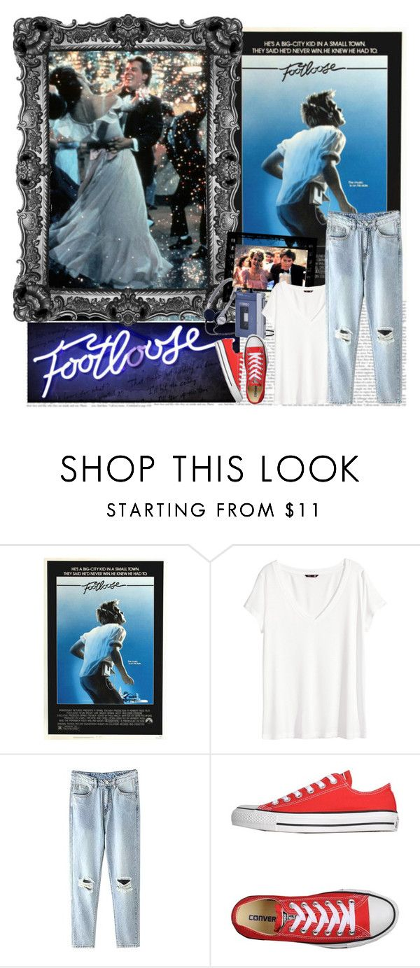 """""""Ya gotta cut loose, footloose!"""" by fashionistajane1 ❤ liked on Polyvore featuring Sony, H&M and Converse"""