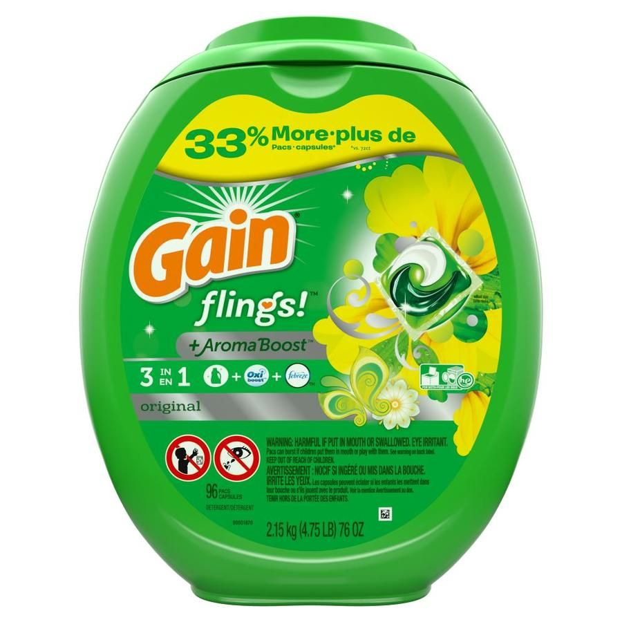 Gain 96 Count He Laundry Detergent 3700080044 In 2020 Laundry