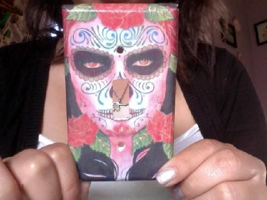 Red Day of the Dead Switch plate