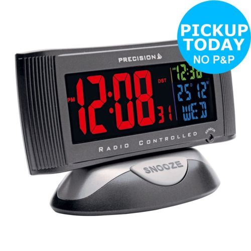 Precision Radio Controlled 3 Colour Display Alarm Clock The Official Argos Sto View More On The Link Http Www Zeppy Io Product Gb 2 332017031598