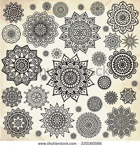 Stock Images similar to ID 103161836 - ornamental round floral pattern.... mandalapainting #mandalaart #mandalatattoodesign #mandalatattoomann #mandaladrawing #flowermandala #tattoosmandalas #designtattoo #tattoodesigns
