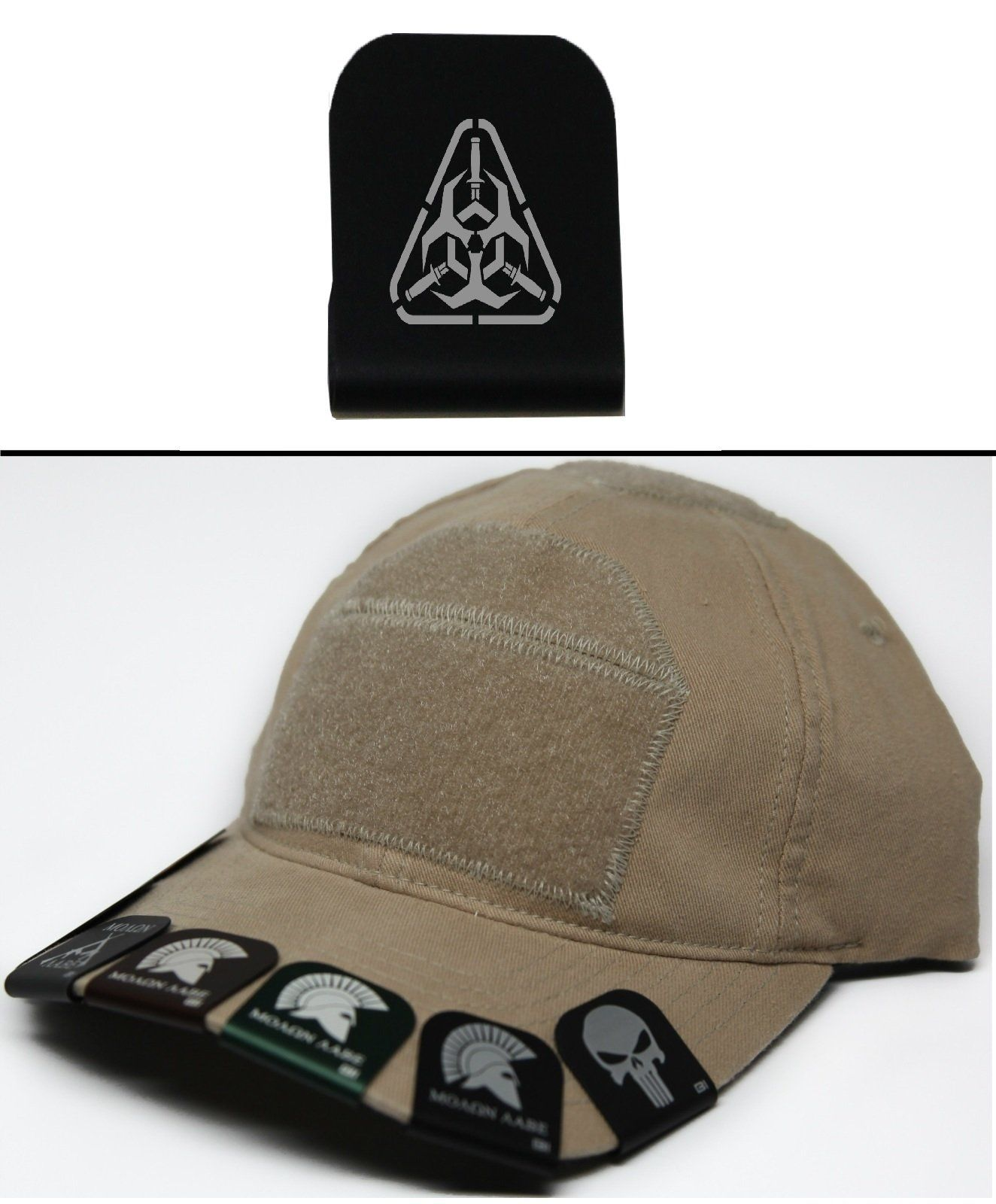82669352a Ultimate Arms Gear RADIOACTIVE WITH KNIVES Hat Cap Crown Brim-It, Black.  Great