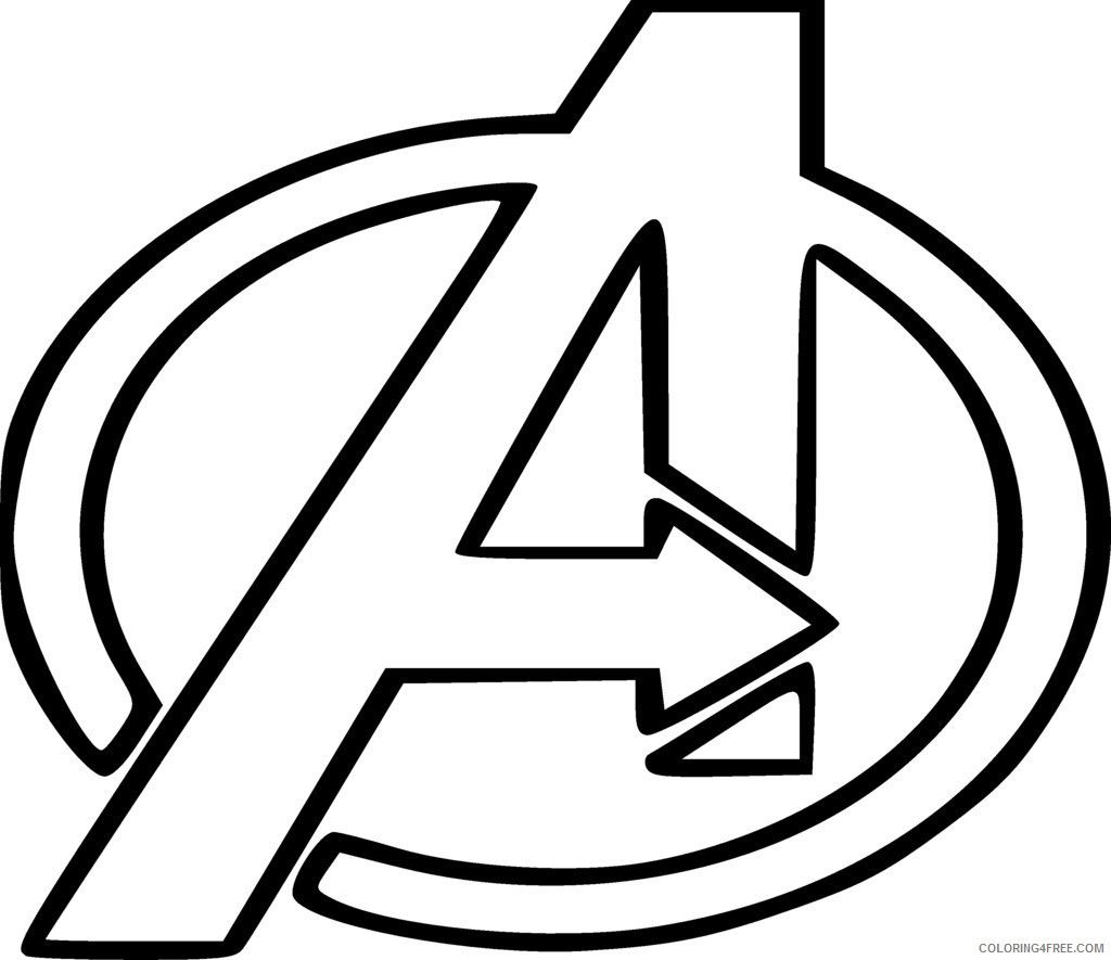 Avengers Logo Coloring Pages Avengers Coloring Pages Avengers Coloring Superhero Symbols