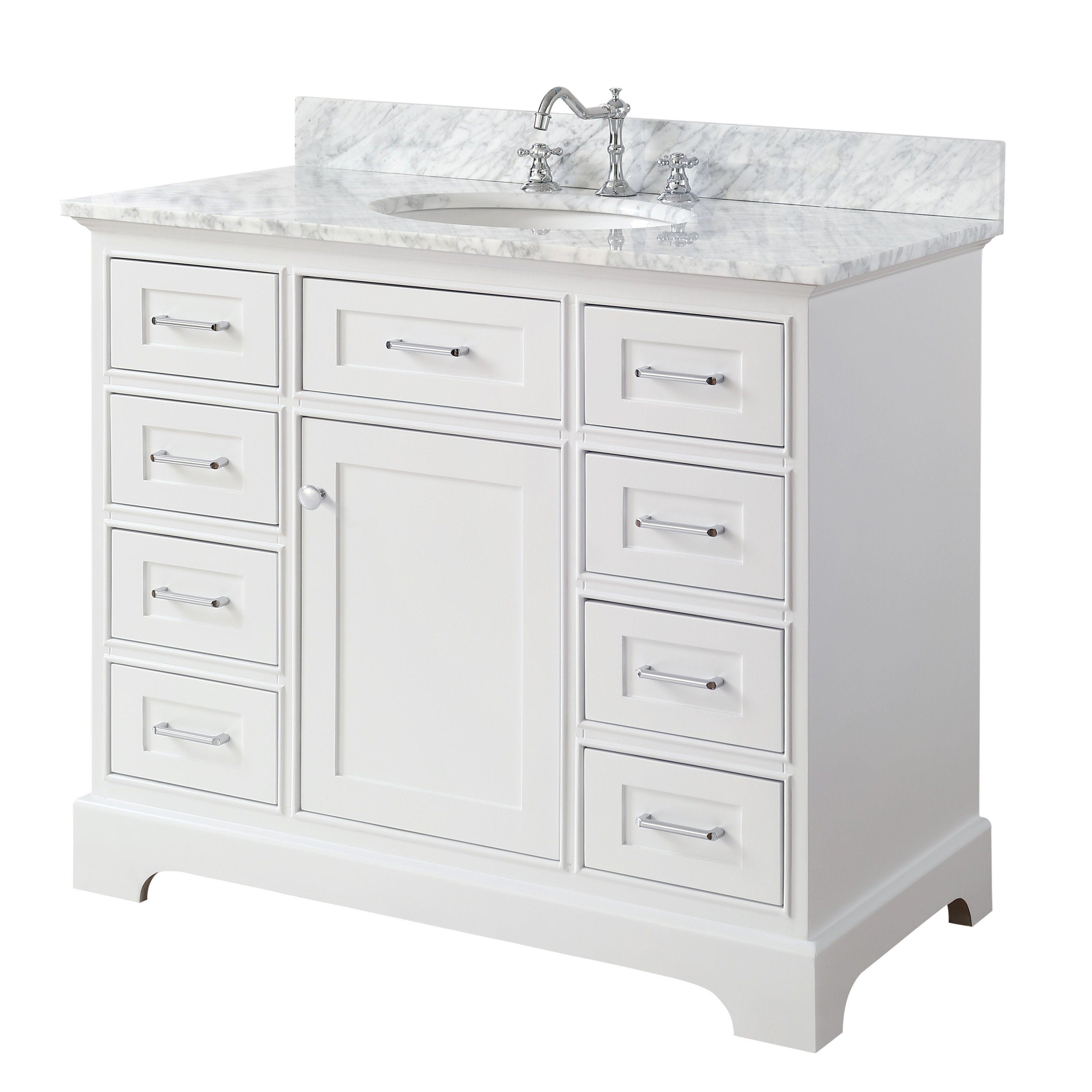 Aria 42 inch Vanity Carrara White