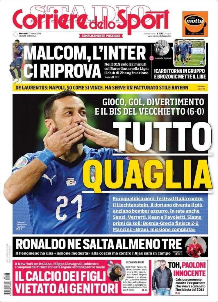 Corriere dello Sport (27 de marzo de 2019) Icardi