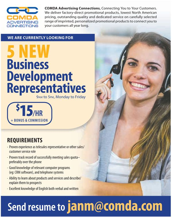 Are you interested in #sales #jobs? #ComdaAdvertising is
