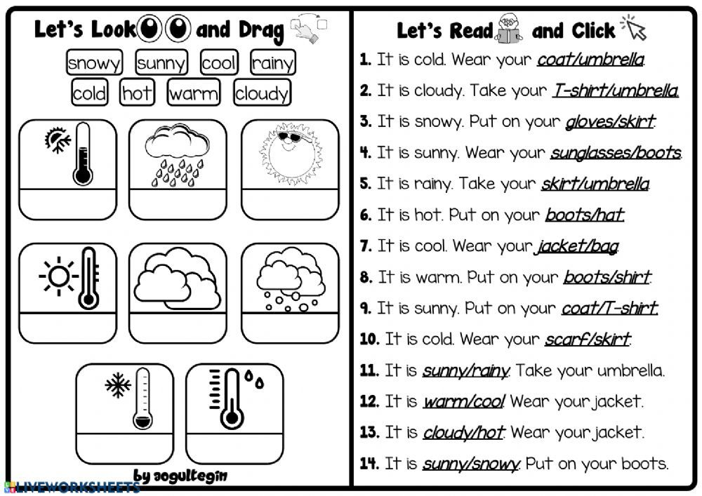 4 8 My Clothes Let S Read And Click Interactive Worksheet English As A Second Language Esl English As A Second Language Worksheets Teacher sites for worksheets
