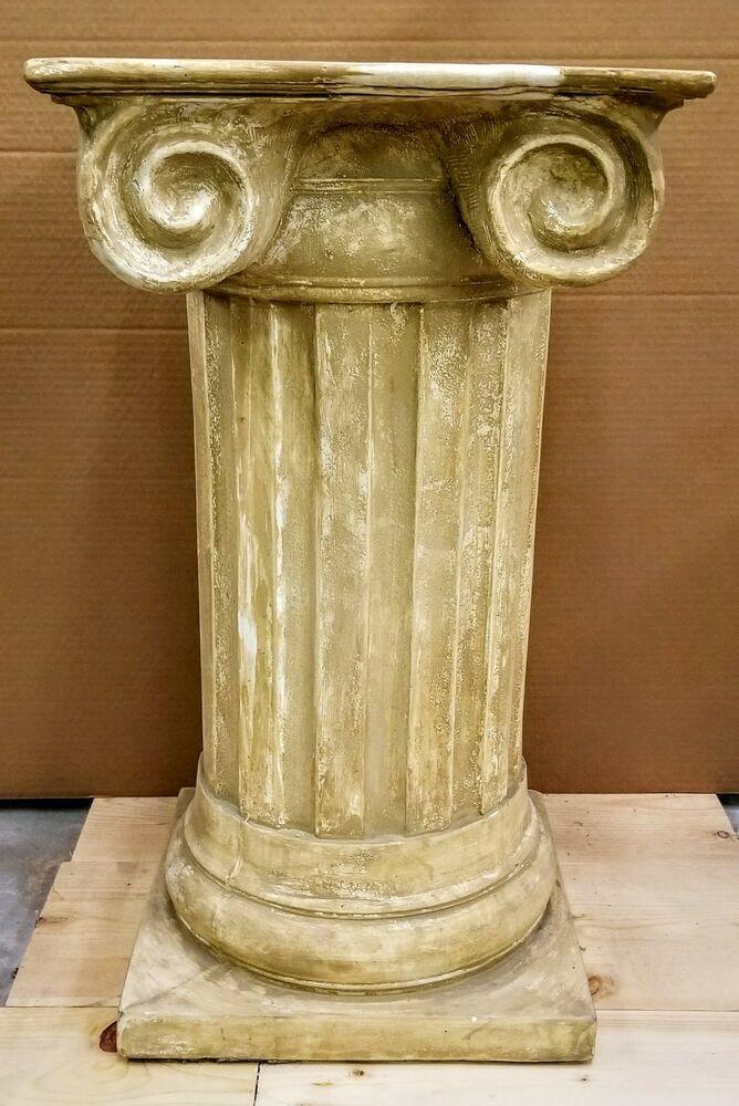 "Classic Greek Roman Column Pedestal Corinthian Style Fluted Home Decor 28/"""