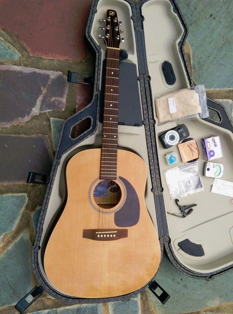 Seagull S6 Cedar Gt Acoustic Guitar Gloss Top Dreadnought Tric Case Metronome Guitar Acoustic Guitar Acoustic
