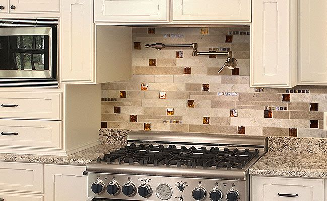 kitchen backsplash tiles colors ideas   interior design   kitchen backsplash is an integral part of any kitchen so adding style and drama to your kitchen     brown glass travertine backsplash tile www tilemaryland com      rh   pinterest com