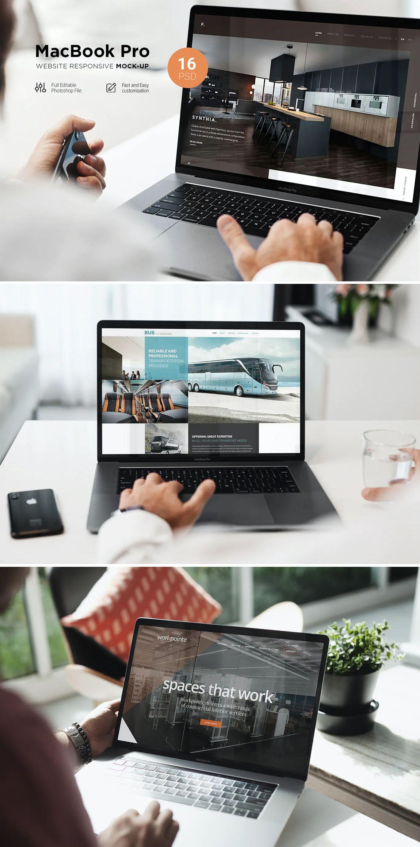 Macbook Pro Responsive Mockup
