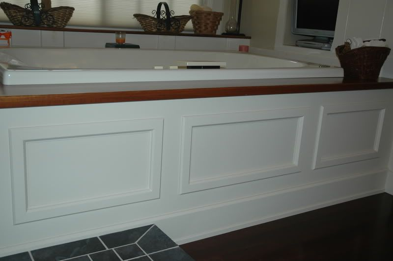 Framing a tub deck surround bathrooms forum gardenweb for Bathroom access panel ideas