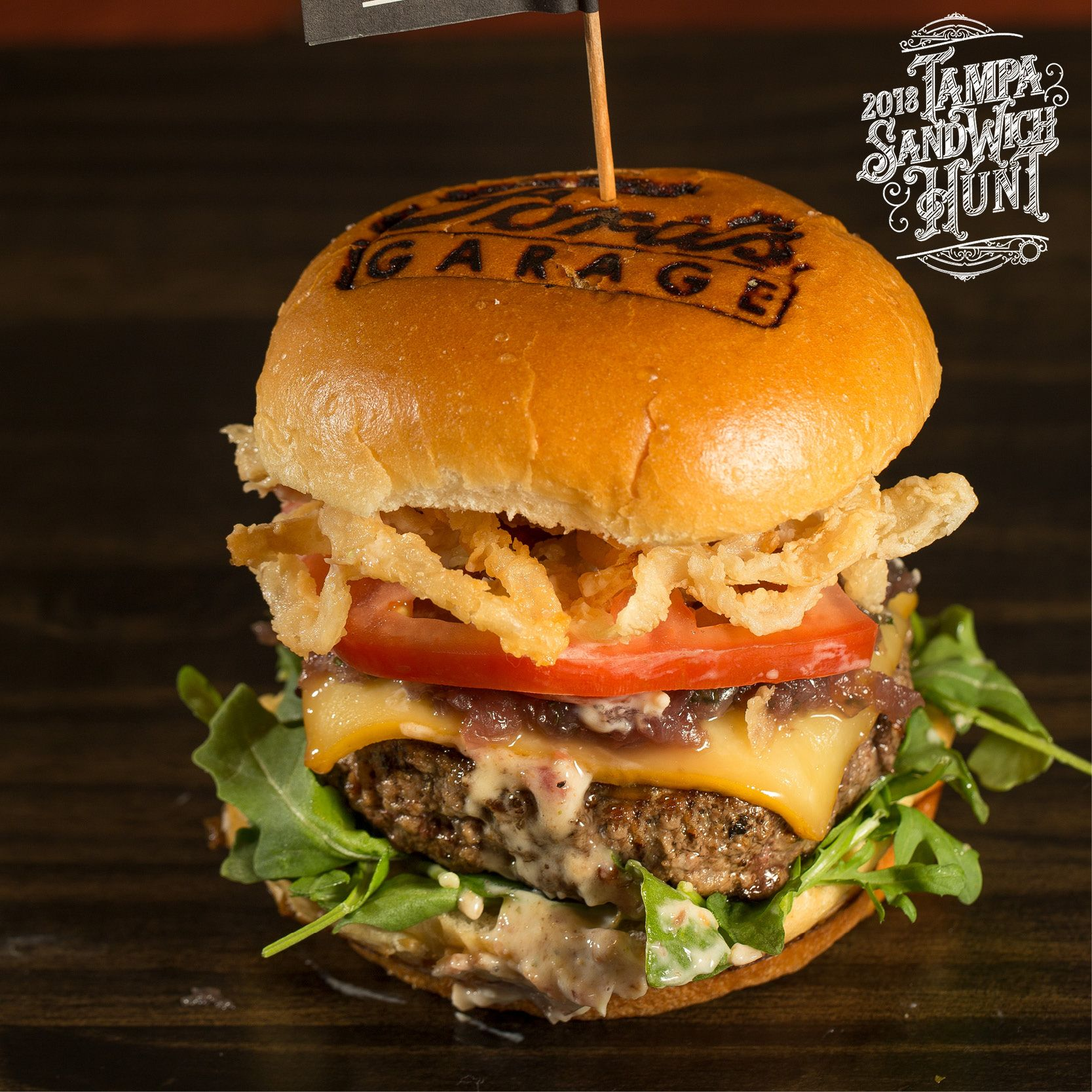 The Estate Burger Ford S Garage Black Angus With Smoked Gouda Cheese Sweet Red Onion Marmalade Arugula Tomato Fried Onion Burger Food Smoked Gouda Cheese